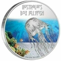 2011 Deadly and Dangerous - Australian Box Jellyfish - 1oz .999 Silver Proof Coin - Perth Mint