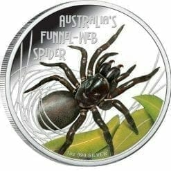 2012 Deadly and Dangerous - Australian Funnel-Web Spider - 1oz .999 Silver Proof Coin - Perth Mint