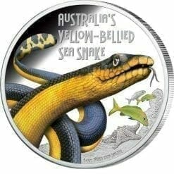 2013 Deadly and Dangerous - Australian Yellow-Bellied Sea Snake - 1oz .999 Silver Proof Coin - Perth Mint