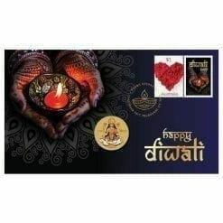 2017 Diwali Stamp and Coin Cover - The Perth Mint