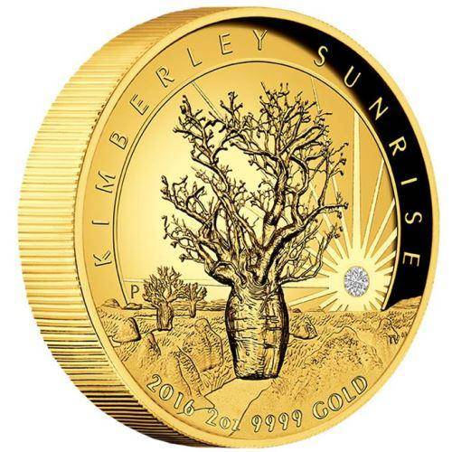2016 Kimberley Sunrise 2oz Gold Proof High Relief Coin - The Perth Mint 9999