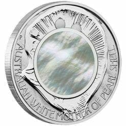 2015 Australian Mother of Pearl Shell 1oz Silver Proof Coin