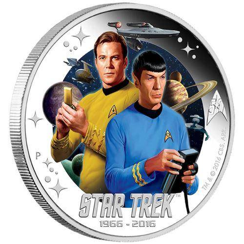 2016 Star Trek: Captain James T. Kirk and Spock 1oz Silver Proof Individual Coin - The Perth Mint 999 & 9999
