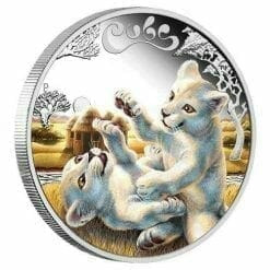 2016 The Cubs - White Lion Cubs 1/2oz Silver Proof Coin - The Perth Mint 999 & 9999