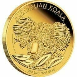 2014 Gold Proof Koala Coin Series - 1/4oz Coin - The Perth Mint 9999
