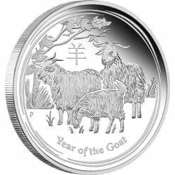 2015 Year of the Goat - 5 oz - Silver Coin – The Perth Mint 999 & 9999
