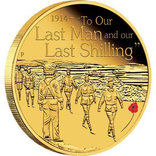 The ANZAC Spirit – To Our Last Man 2014 1/4oz Gold Proof Coin