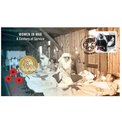 2017 Women in World War I Stamp and Coin Cover - The Perth Mint