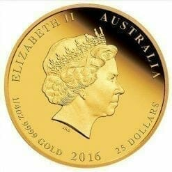 2016 Year of the Monkey - 1/4 oz - Gold Coins - The Perth Mint 9999