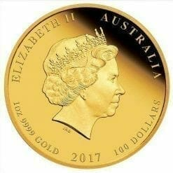 2017 Year of the Rooster - 1 oz - Gold Coin - The Perth Mint 9999