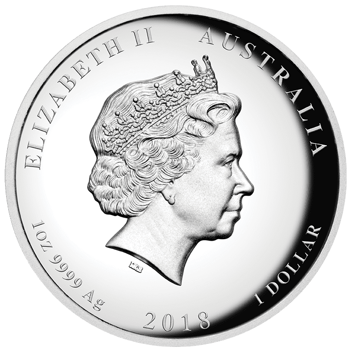 2018 1 oz - Relief Dog - Silver Coin – The Perth Mint 999 & 9999
