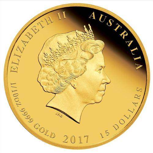 2017 Year of the Rooster - 1/10 oz - Gold Coin - The Perth Mint 9999