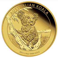 2015 Gold Proof Koala Coin Series – 1/4oz Coin - The Perth Mint 9999