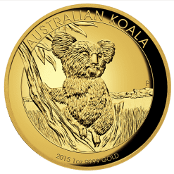 2015 Gold Proof Koala Coin Series – 1oz High Relief Coin - The Perth Mint 9999