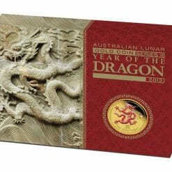 2012 Year of the Dragon 1/4oz .9999 Gold Proof Coin Coloured Edition - Australian Lunar Series II - Perth Mint