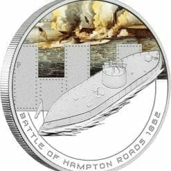 2010 Famous Naval Battles - Battle of Hampton Roads 1862 - 1oz .999 Silver Proof Coin - Perth Mint
