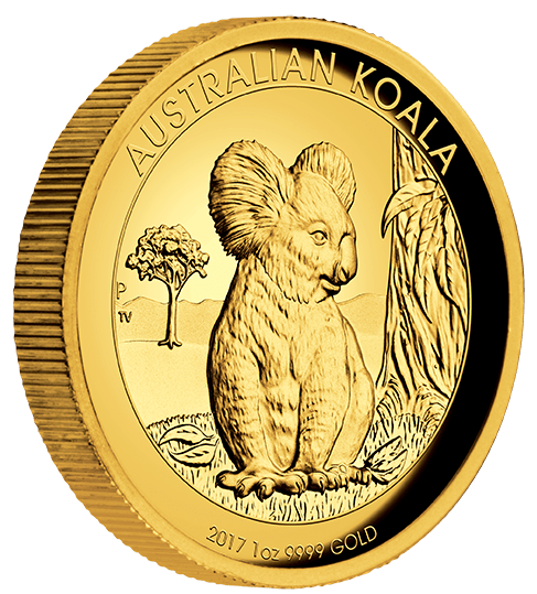 2017 Gold Proof Koala Coin Series – 1oz High Relief Coin - The Perth Mint 9999