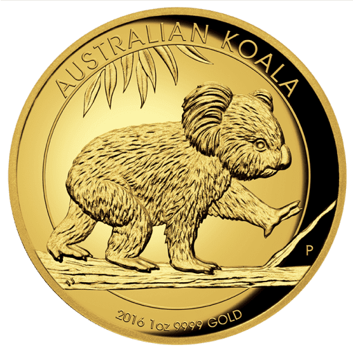 2016 Gold Proof Koala Coin Series – 1oz High Relief Coin - The Perth Mint 9999