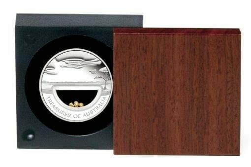 2010 Treasures of Australia - Gold - 1oz .999 Silver Proof Locket Coin - Perth Mint