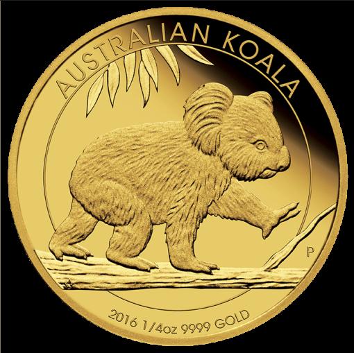2016 Gold Proof Koala Coin Series – 1/4oz Coin -