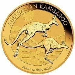 2018 Australian Kangaroo 1oz .9999 Gold Bullion Coin - The Perth Mint BU
