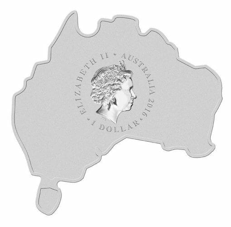 2016 Dingo - Australian Map Series - 1oz .999 Silver Coin - The Perth Mint