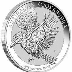 2018 Australian Kookaburra 10oz .9999 Silver Bullion Coin - The Perth Mint BU