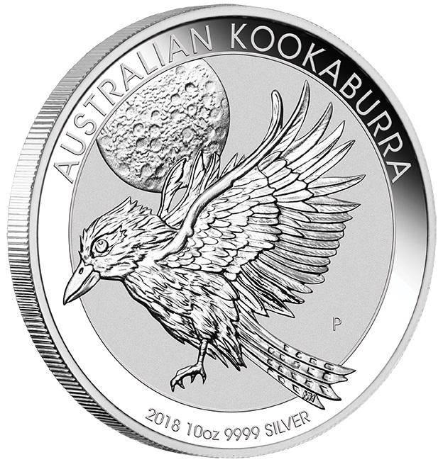 2018 Australian Kookaburra 10oz .9999 Silver Bullion Coin - The Perth Mint BU