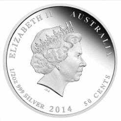 2014 First Convoy ANZAC Spirit 100th Anniversary .999 1/2oz Silver Proof Coin - PM