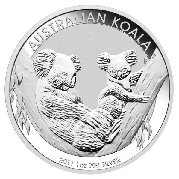 2011 Australian Koala 1oz .999 Silver Coin in Capsule - The Perth Mint BU