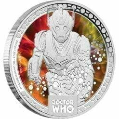 2014 Doctor Who Monsters - Cybermen 1/2oz Silver Proof Coin - The Perth Mint 999 & 9999