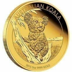 2015 Gold Proof Koala Coin Series – 5oz Coin - The Perth Mint 9999