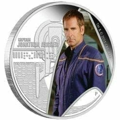 2015 Star Trek: Enterprise - Captain Jonathan Archer 1oz Silver Proof Coin - The Perth Mint 999 & 9999