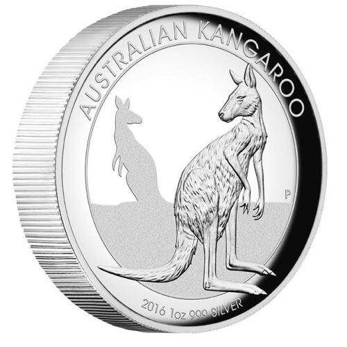 2016 Australian Kangaroo 1oz Silver Proof High Relief Coin - The Perth Mint 999 & 9999