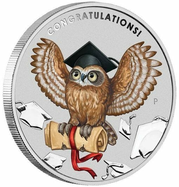 2018 Graduation 1oz .9999 Silver Coin in Card - The Perth Mint