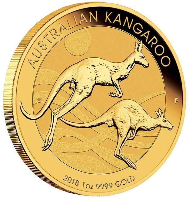2018 Australian Kangaroo 1oz .9999 Gold Bullion Coin - The Perth Mint BU