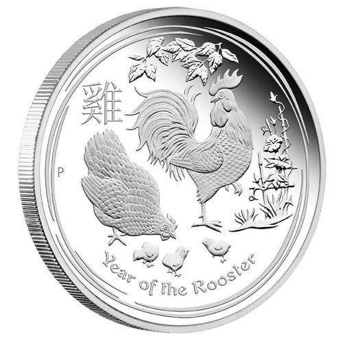 2017 Year of the Rooster - 1 oz - Silver Coin – The Perth Mint 999 & 9999
