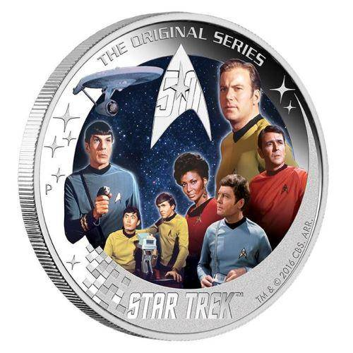 2016 Star Trek: The Crew 2oz Silver Proof Coin - The Perth Mint 999 & 9999