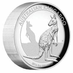 2016 Australian Kangaroo 5oz Silver Proof High Relief Coin - The Perth Mint 999 & 9999