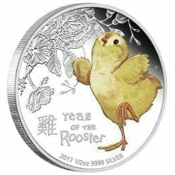 2017 Baby Rooster - 1/2oz Silver Proof Coin  - The Perth Mint 999 & 9999