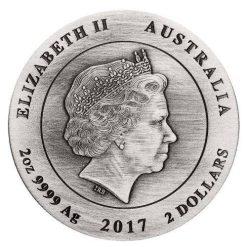 2017 Australian Koala 2oz Silver High Relief Antique Coin - The Perth Mint 999 & 9999