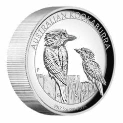2017 Australian Kookaburra 5oz Silver Proof High Relief Coin - The Perth Mint 999 & 9999