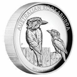 2017 Australian Kookaburra 1oz Silver Proof High Relief Coin - The Perth Mint 999 & 9999