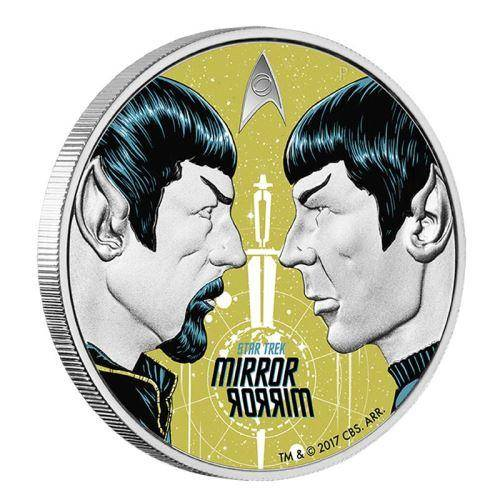 2017 Star Trek: Mirror, Mirror 1oz Silver Coin - The Perth Mint 999 & 9999