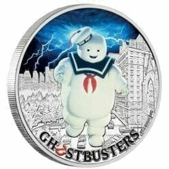 2017 Ghostbusters Stay Puft 1oz Silver Coin - The Perth Mint 999 & 9999