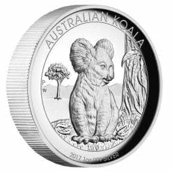 2017 Australian Koala 1oz Silver Proof High Relief Coin - The Perth Mint 999 & 9999