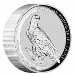 2017 Australian Wedge-Tailed Eagle 5oz Silver Proof High Relief Coin - The Perth Mint 999 & 9999