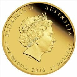 2016 Year of the Monkey 1/10oz .9999 Gold Proof Coin - Australian Lunar Series II - Perth Mint