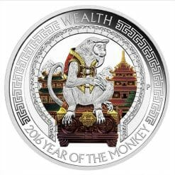 2016 Year of the Monkey - Wealth and Wisdom 1oz Silver Two-Coin Set - Lunar Good Fortune - Perth Mint