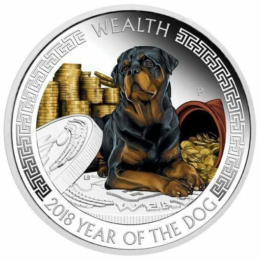 2018 Year of the Dog - Wealth and Wisdom Two-Coin .9999 Silver Proof Set - The Perth Mint